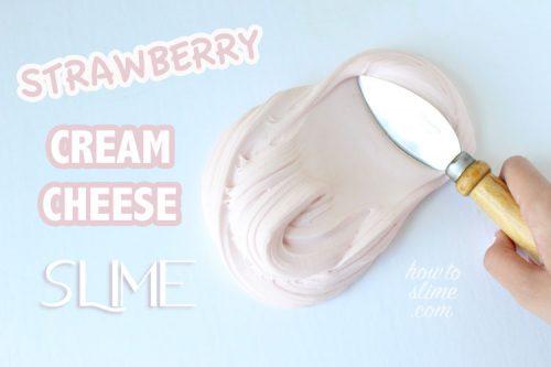 Strawberry cream cheese slime recipe