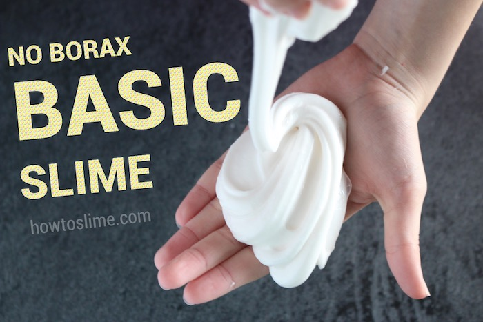 easiest 2 ingredient slime recipe without borax