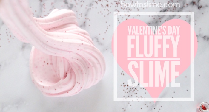 Valentine's Day pink and fluffy Slime