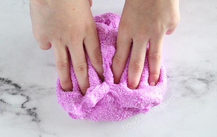 How to Make Kinetic Foam Floam Crunchy Slime