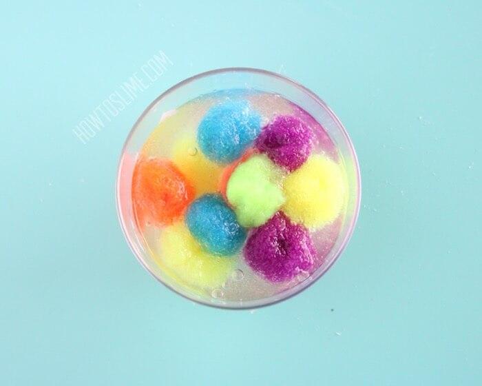 Rainbow Pom Pom Slime Recipe